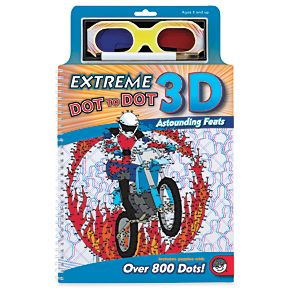 NEW! Extreme Dot-To-Dot 3D (Astounding Feats) - These dot-to-dot images appear to leap off the page! Use the included black marker and 3D glasses to see your images come to life. Puzzles range from 250 to over 800 dots! Ages 8+. Spiral-bound, 20 pages. (Product Number OMB56202) $14.98 CAD