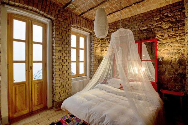 спальня с кирпичной стеной - Google keresés