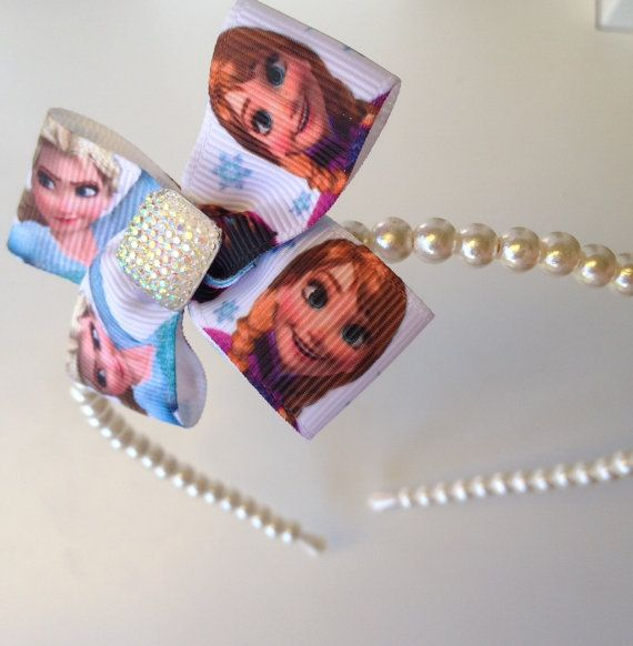 Boutique Frozen Cream Pearl Headband with Princess by OliverandMay, $7.99
