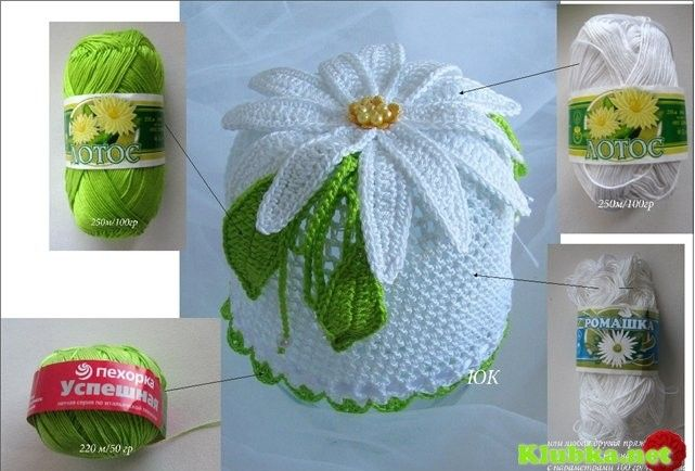 Panama hat-year-old openwork crochet for a girl with a flower, chamomile, master-klass/4683827_20120518_113203 (641x434, 75Kb)