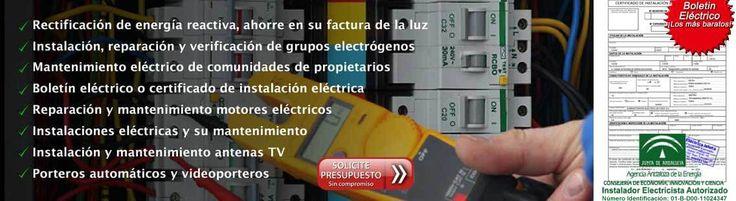 Electricista en Cádiz - electricista en Cádiz para instalaciones eléctricas en Cádiz - Electricista en Cádiz para diseñar, mantener y certificar instalaciones en baja tensión en Cádiz - electricista en Cádiz para certificar cualquier instalación en baja tensión - Antenista en Cádiz - antenista en Cádiz para instalación de antenas tv - electricista en Cádiz para instalación de porteros automáticos, TDT - Ahorre en la factura de la luz en Cádiz , mediante la rectificación a través de baterías…