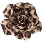 Traditional Leopard Print Hair Flower at Accessorize