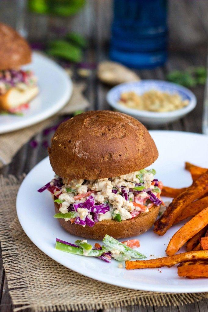 Asian Tofu Salad Sandwiches: Recipes Food, Salad Sandwiches 9105, Sandwiches Gf V, Buy Ton, Wraps Sandwiches, Asian Tofu, Tofu Salad Sandwiches, Healthy Recipes, Salad Healthy