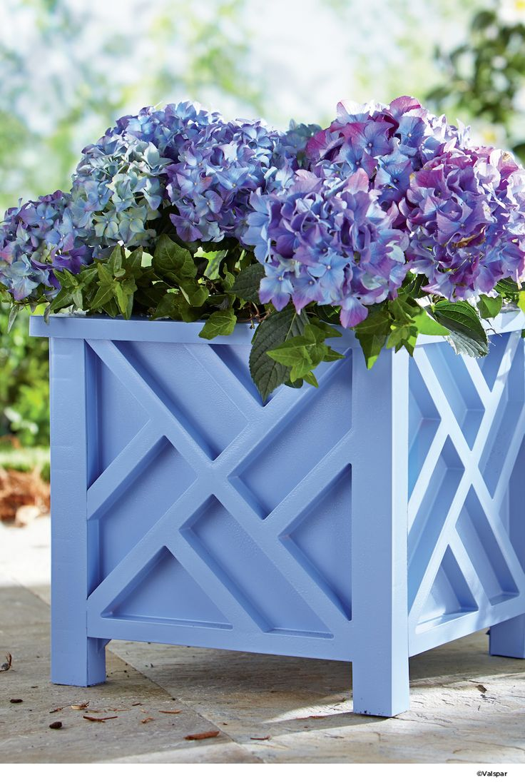 Flower boxes to match for any color.