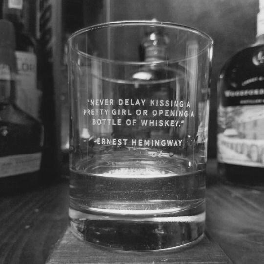 -Ernest Hemingway I quit drinking i miss tullamore dew