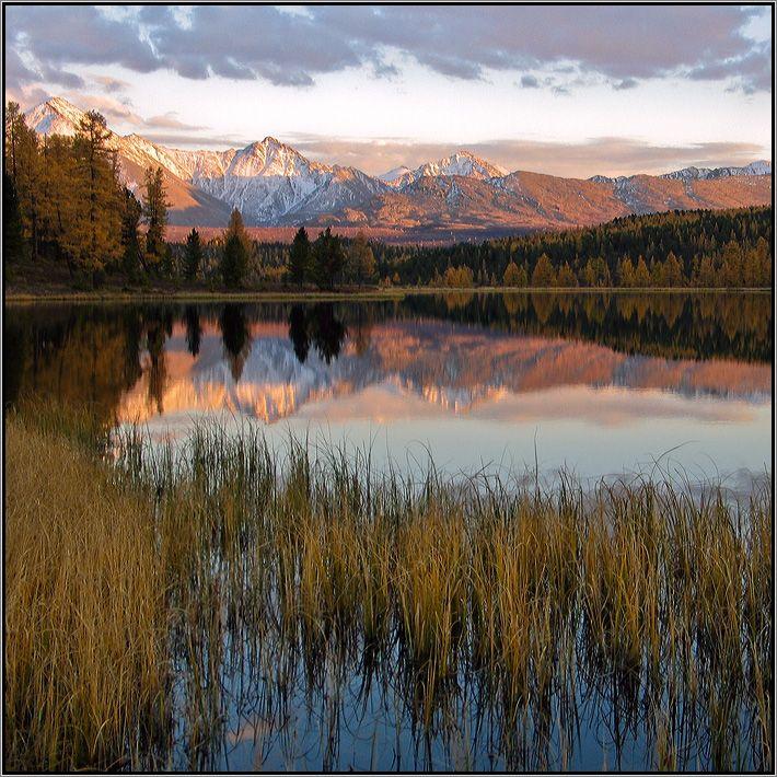 Вечер у озера Киделю. Осень 2005, ностальгия ... #алтай #горы #горный алтай #улаган #озеро #курайский хребет #киделю #закат #аня графова Автор: Аня Графова