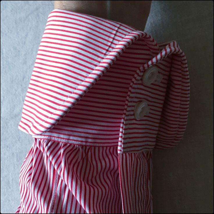 bespoke shirt by Mary Frittolini - detail