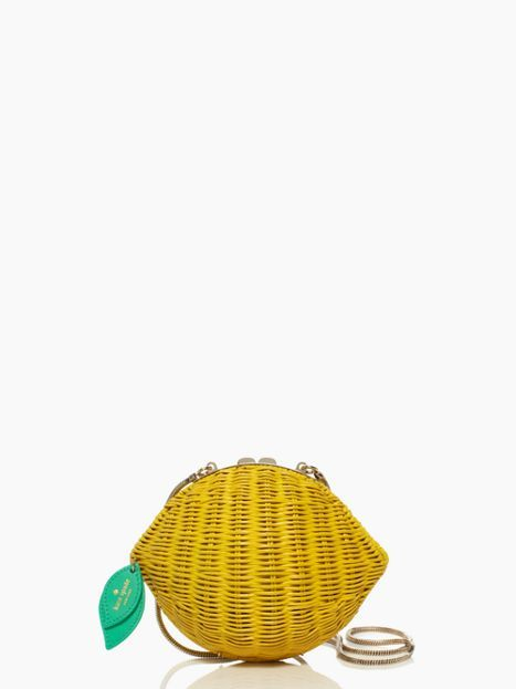 Love this Kate Spade purse - vita riva wicker lemon