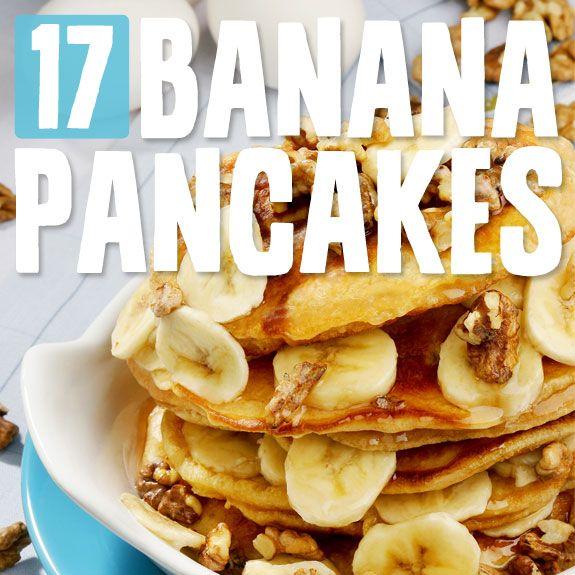 17 Banana Pancakes- the most delicious banana pancake recipes with no grain, no white sugar & no dairy.