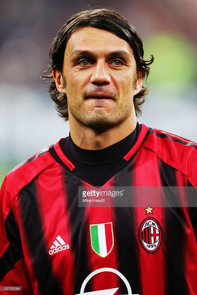 A portrait of Paolo Maldini of Milan prior to the UEFA Champions League quarter-final second leg between Inter Milan and AC Milan at the San Siro Stadium on April 12, 2005 in Milan, Italy.