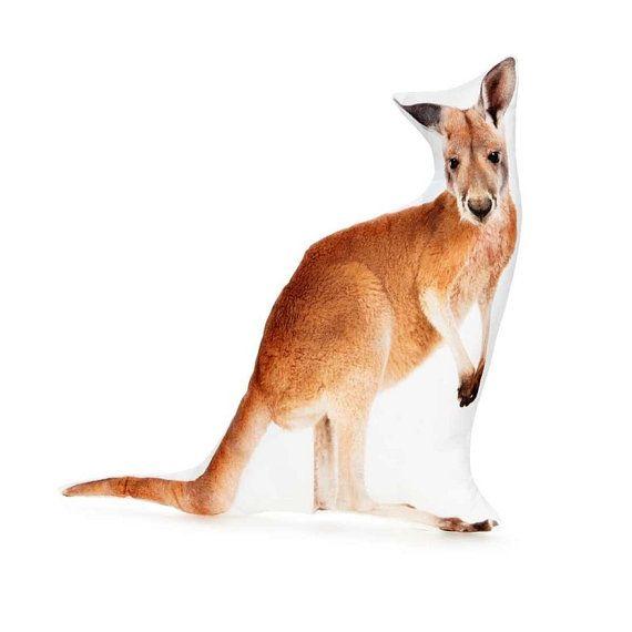 Kangaroo Kangaroo Cushion Kangaroo Pillow Australian Decor
