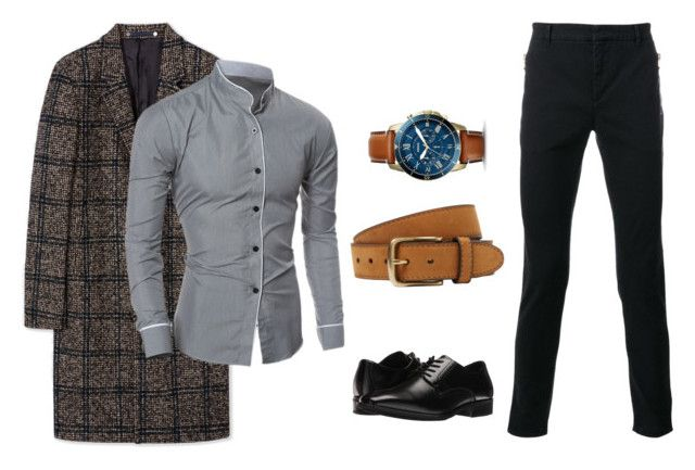 """""""Winter Work"""" by kiky77 on Polyvore featuring PS Paul Smith, Balmain, Stacy Adams, FOSSIL, Bergè, men's fashion and menswear"""