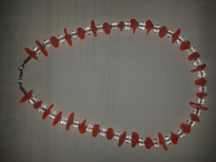 Coral Crystal Necklace