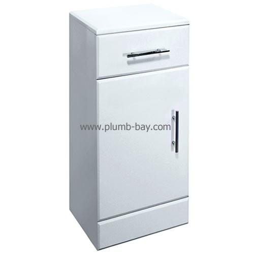 White Gloss #Bathroom storage cupboard - £89.00 http://www.plumb-bay.com/cupboard-250w-300d