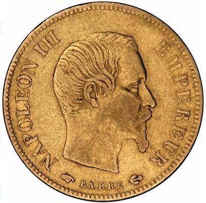 10 Φράγκα, Χρυσός, 900, Ναπολέων III