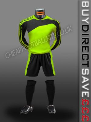 Striker Discount Football Kit Flo/Black