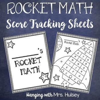 I made this scoring sheet for my students to use while we are working our way through Rocket Math (multiplication). One page can be glued on a folder for a cover page. The other two pages can be given to students to help them track their progress in the program.