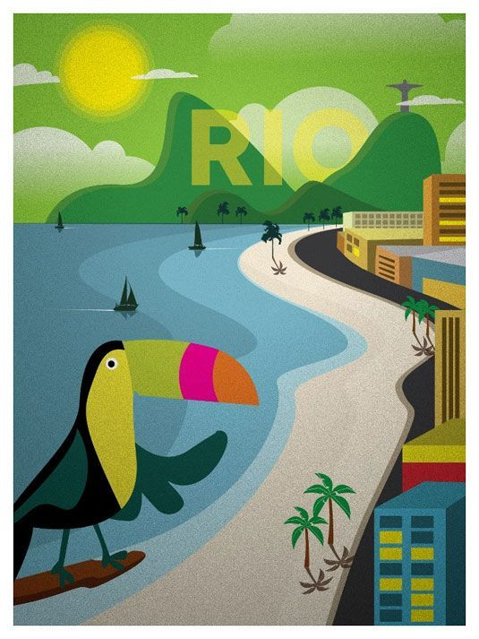 Graphic designer Alex Asfour of IdeaStorm Media has created a series of beautiful travel posters that is inspired by vintage design, for his latest project.