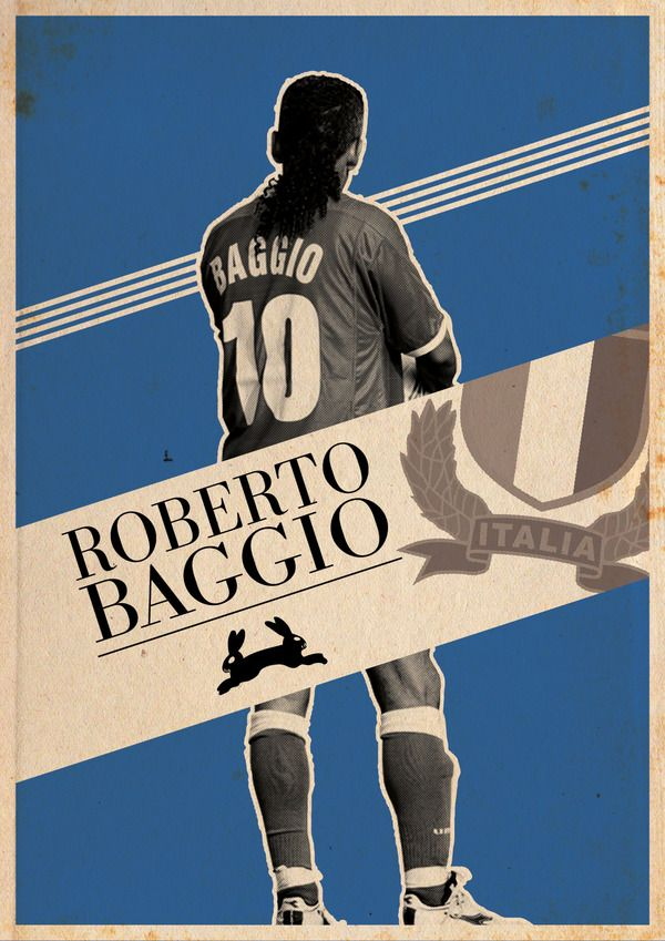 I AM NUMBER TEN: Baggio by Kareem Gouda, via #Behance #football