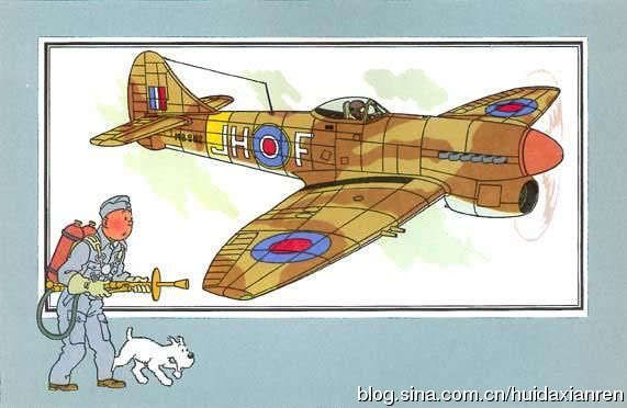 tintin and hawker tempest
