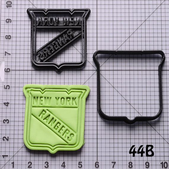 New York Rangers Cookie Cutter by LucerLu on Etsy