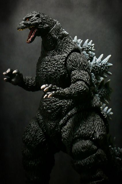 Godzilla toy. I like the idea of owning stuff that is related to stories I've published :)