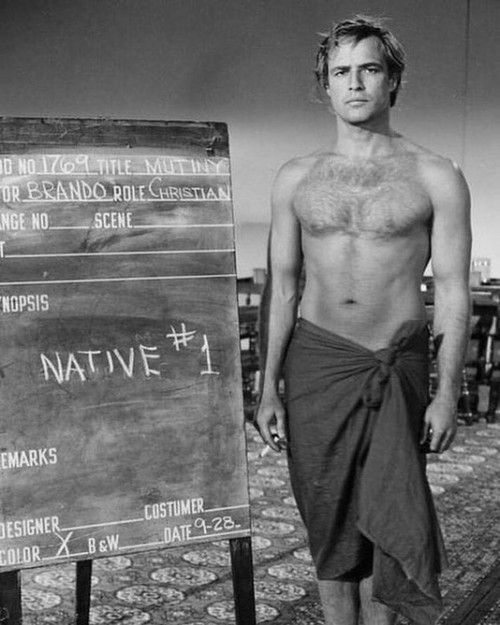 Marlon Brando. A wardrobe test for Mutiny On The Bounty, 1962 #MarlonBrando