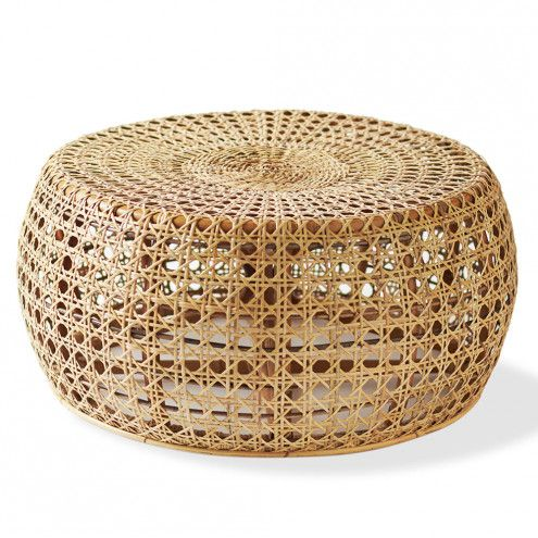 "13"" high, 29"" wide $198 (+add plexiglass top?) Rattan Diamond Coffee Table   VivaTerra"