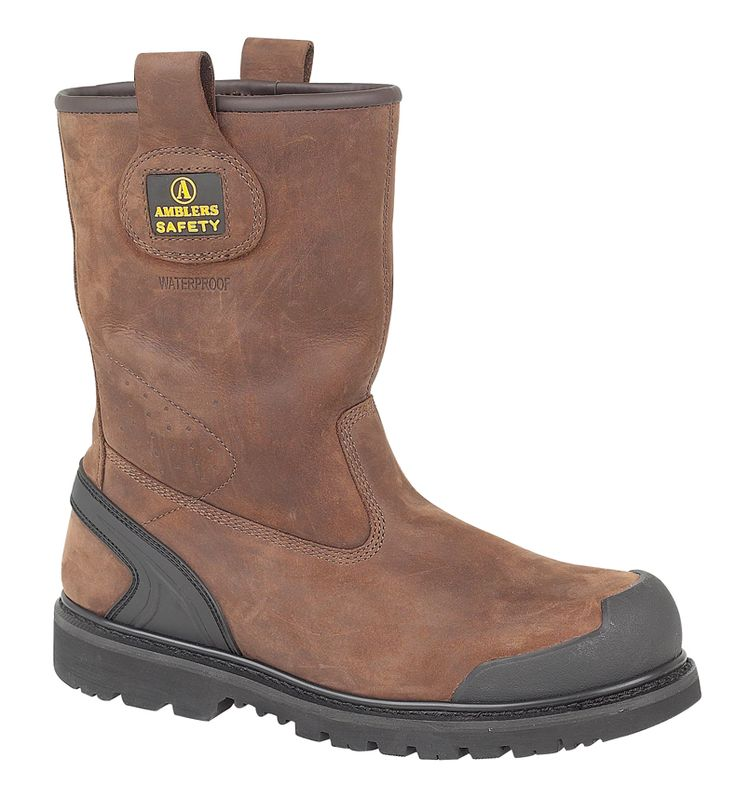 Amblers Safety FS223 men's brown rigger boot with composite toe cap and  midsole. Waterproof. Goodyear welted. EN ISO20345 S3-W/P-SRA. UK size: 6,  7, 8, 9, ...
