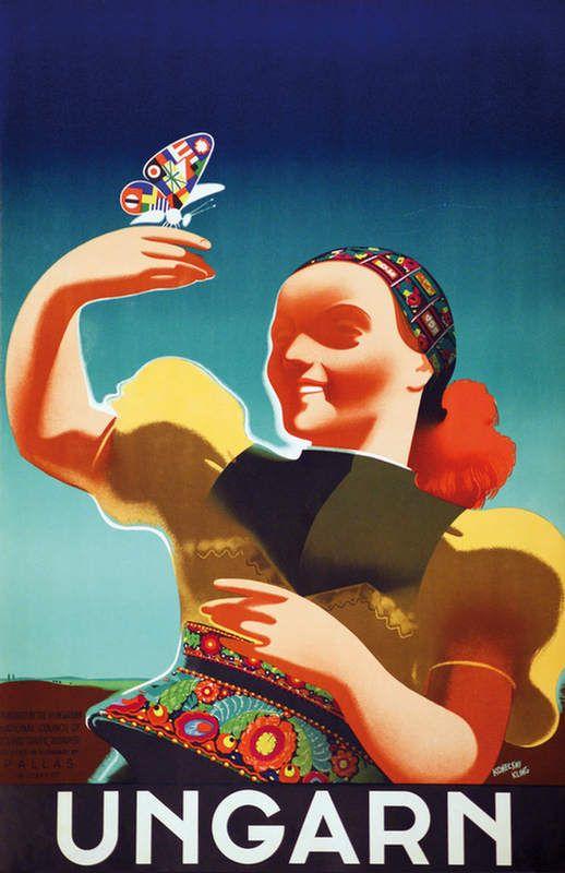 Konecsni's travel poster 193x Hungary