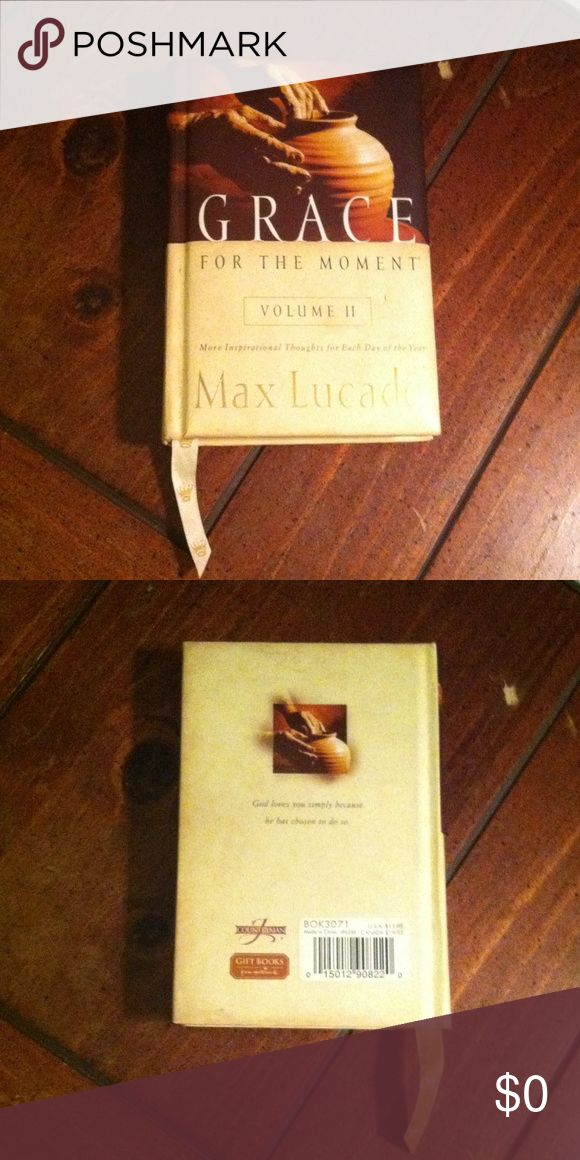 FREE WITH ANY PURCHASE ; ) Small 8x5 Hard Back cushioned book called Grace , for the moment by Max Lucado. Don't forget when ordering an item to mention which Free Gift item you would like to receive. I have 3 or 4 to pick from in my closet listings. Book Other