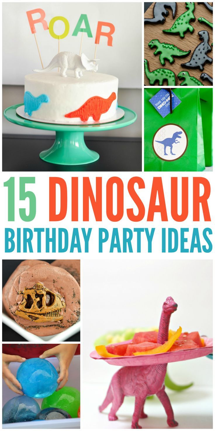 15 dino party ideas for your Dinosaur themed party