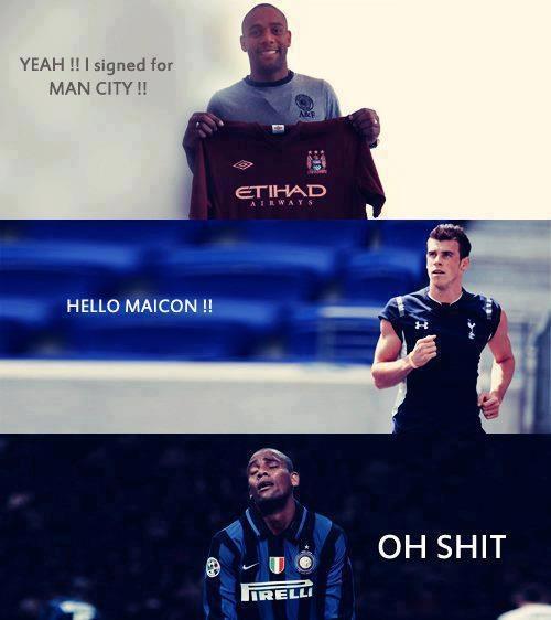 Gareth Bale>Maicon