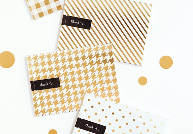 #houseofpatterns | Gold Cards from Pei Design