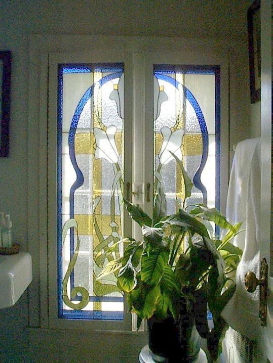 Edwardian Bathroom Window stained glass