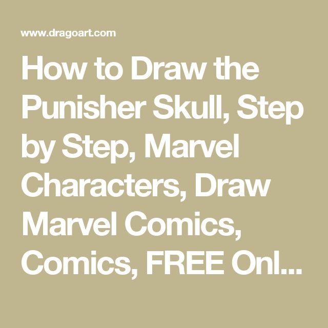 How to Draw the Punisher Skull, Step by Step, Marvel Characters, Draw Marvel Comics, Comics, FREE Online Drawing Tutorial, Added by Dawn, November 17, 2008, 8:14:16 am