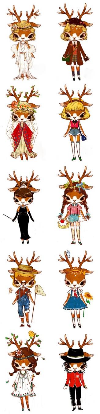 各种食物真人版,都是萌妹子啊。西瓜小姐我爱你。【阿团丸子】,Whimsical People , Resources for Art Students CAPI ::: Create Art Portfolio Ideas at milliande.com , Art School Portfolio, Cute, Whimsical, Cartoon, Kawaii, Girls.