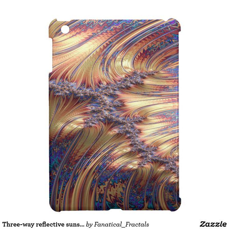 Three-way reflective sunset fractal design #electronics #case #abstract #artwork #gifts #giftidea #zazzle #ipad