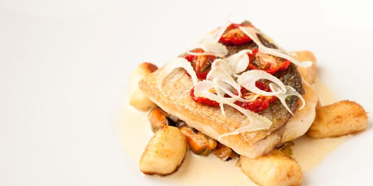 This delicious sea bass recipe by Kevin Mangeolles combines the flavours of sea bass and mussels with gnocchi, fennel and dried tomatoes, making a fine meal.