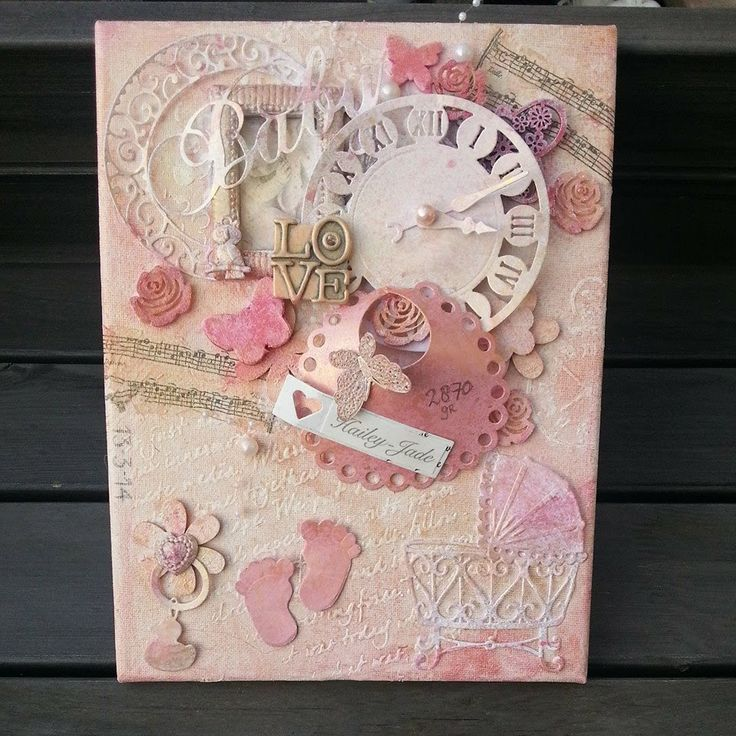 Silly's wonderlijke freubels: Geboorte canvas girly stuff