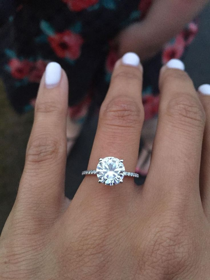 Stunning round solitaire engagement ring inspiration // mysweetengagement… // …