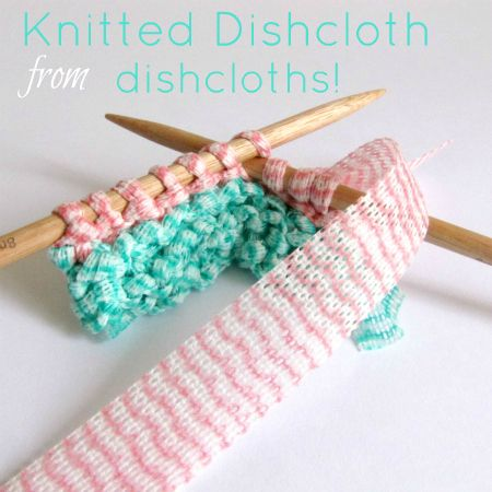 A new twist to a knitted dishcloth