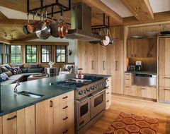 sink to drain pot filler Wainscott Residence beach style kitchen