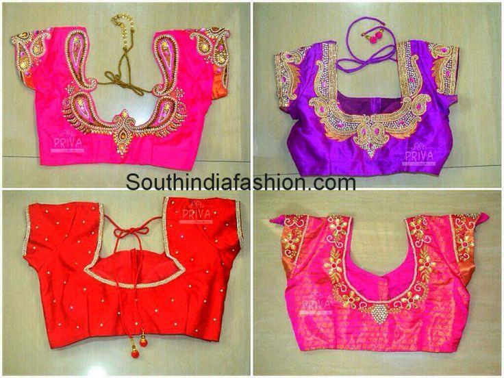 Customized Wedding Saree Blouses Celebrity Sarees