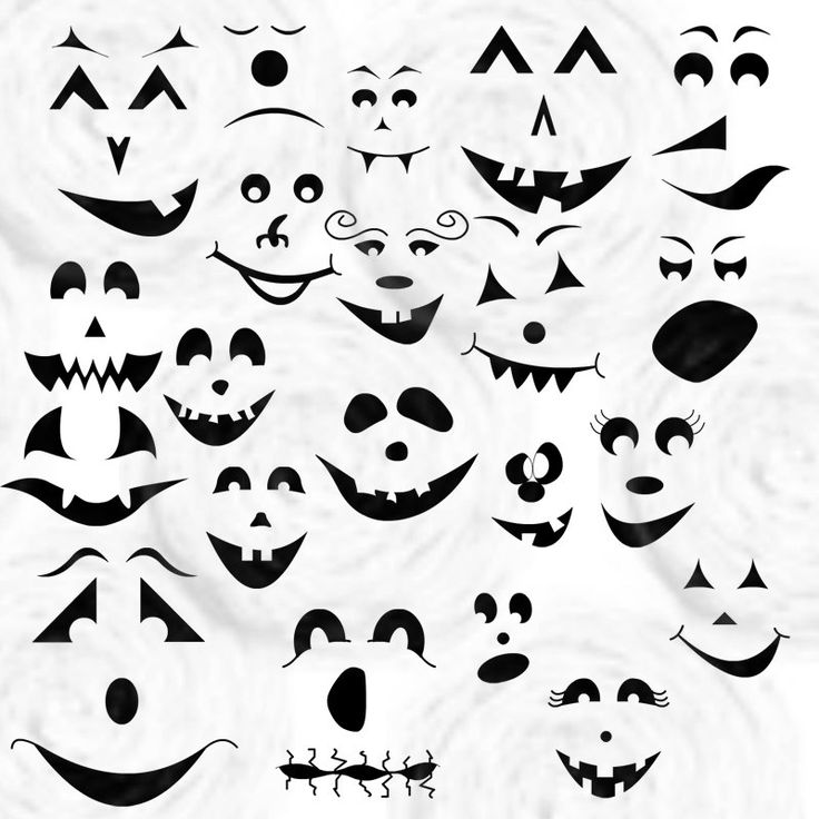 ghost faces maggie and i used these for decorations - How To Draw Halloween Decorations