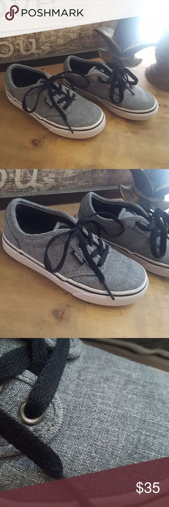 Boys VANS Shoes size 12.5 Incredible pair of boys shoes, grey white & black.  Worn 1 time paid $54 .    Perfect for school!  Size 12.5 boys Vans Shoes Sneakers
