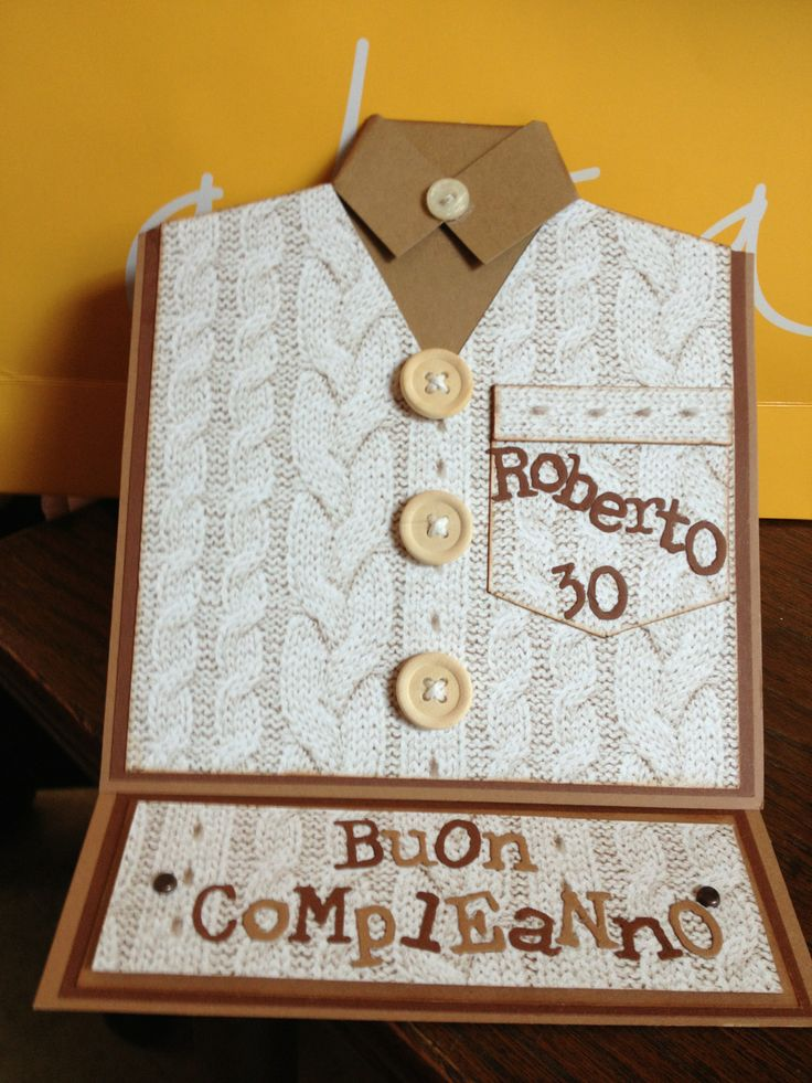 Easel card Compleanno