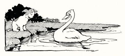 Vasco Lopes de Mendonça (1881-1963) No lago dos cisnes, Voga, 18 dezembro 1927
