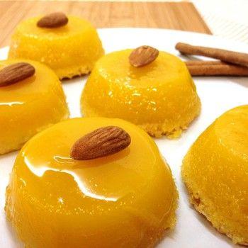 Queijadinhas de amêndoa - Doçaria Conventual. Uma espécie de 'quindim de amêndoa' português! Can substitute butter for Olive Oil