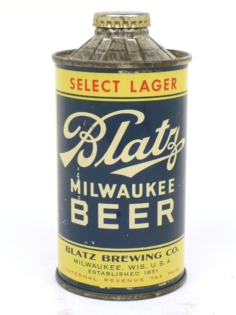 Vintage Blatz Cone Top Beer Can Refrigerator Tool Box Magnet